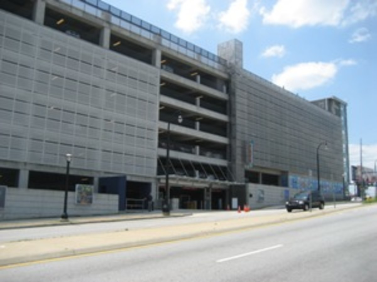 1,550 parking spaces at $10.00 the day. Better get there with MARTA transportation system