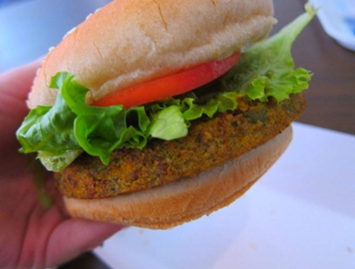 Simple but expensive burger at Georgia Aquarium