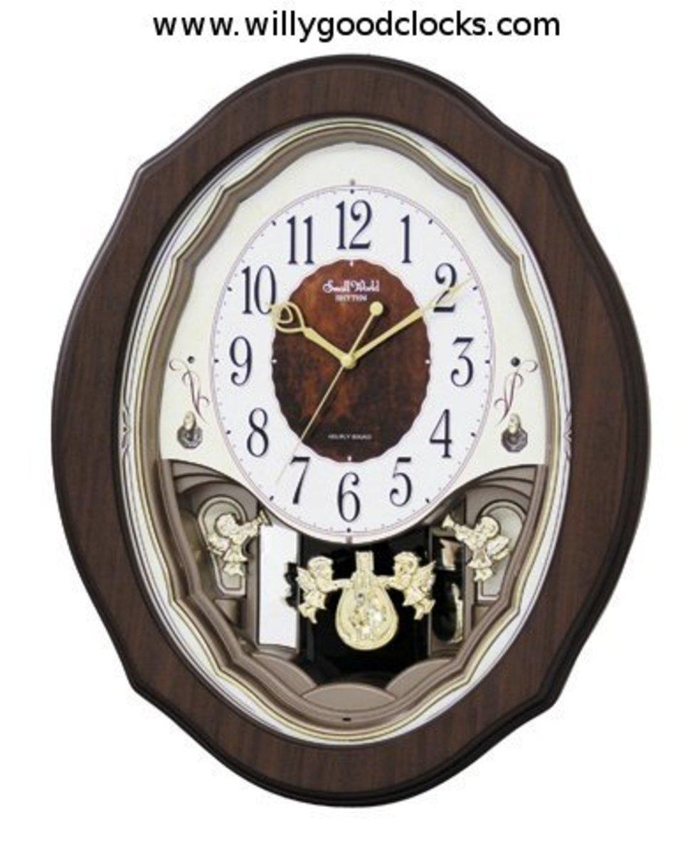Precious Angels Clock in Black Finish