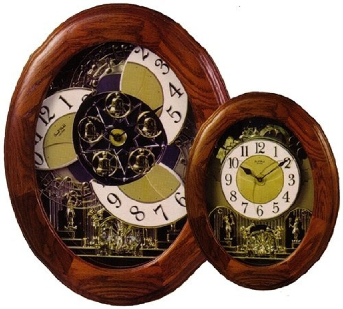 Rhythm Clocks Nostalgia Oak Legend