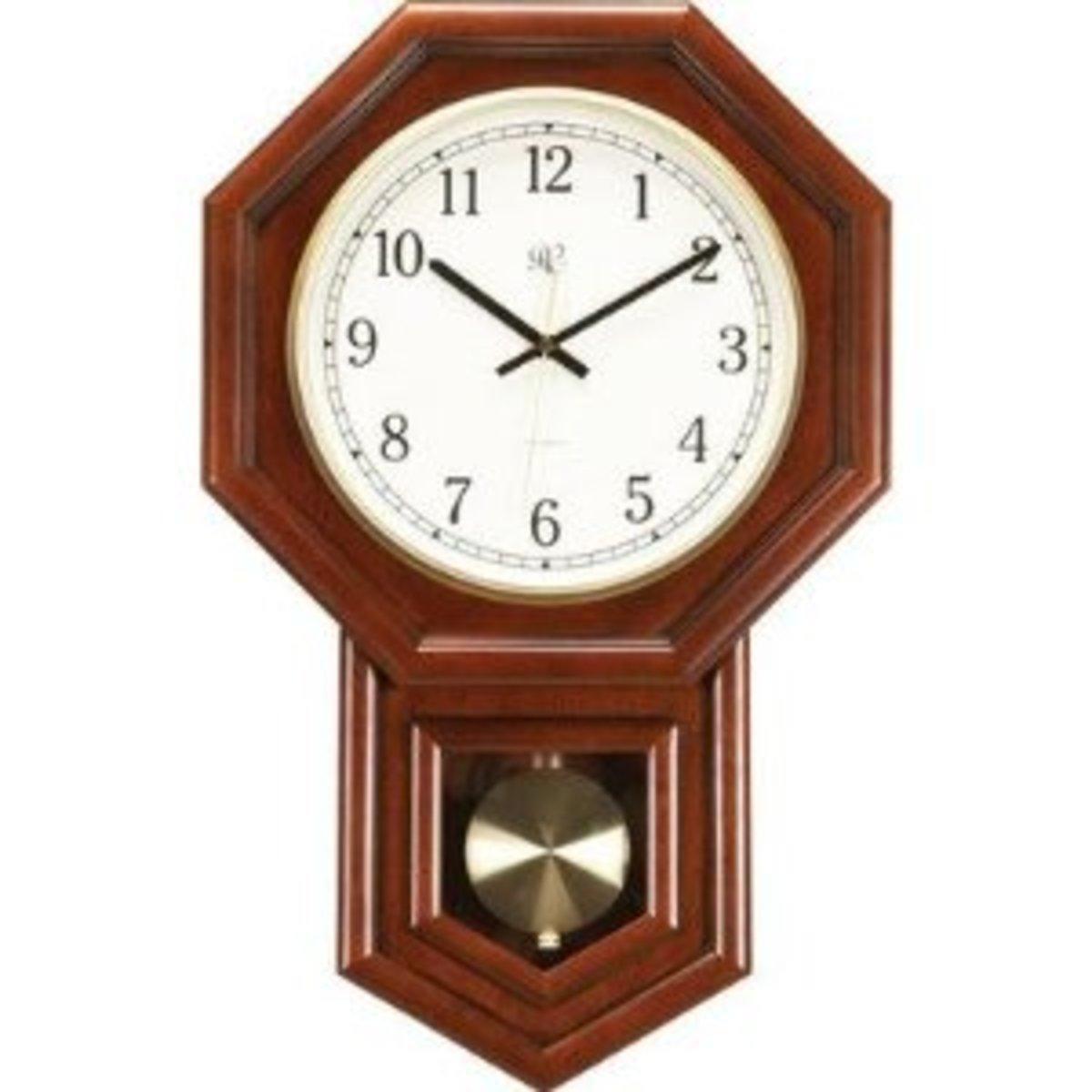 River City Clocks 801-403C 21-Inch Radio-controlled Schoolhouse Clock