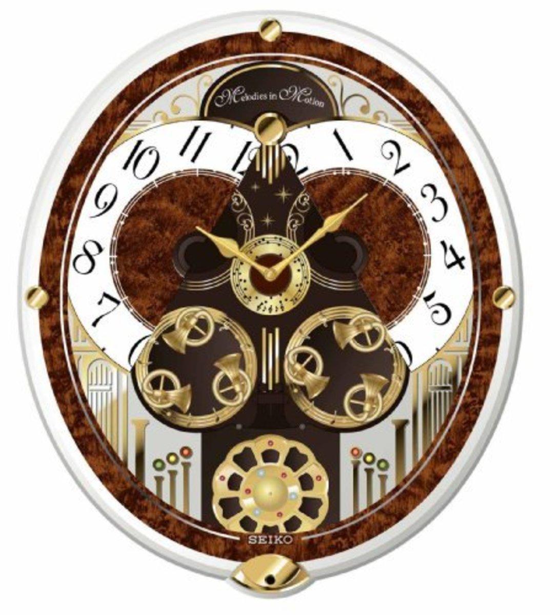 Seiko Melodies In Motion Swarovski Crystallized Clock