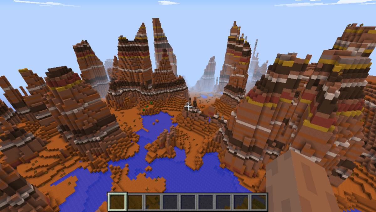 Minecraft Mesa biome seed list 1.7.10 - 1.8.1(videos)