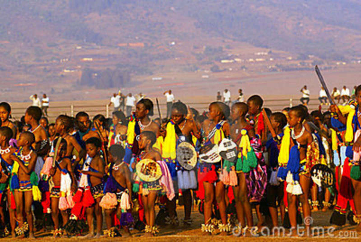Swazi children section of the Reed Dance