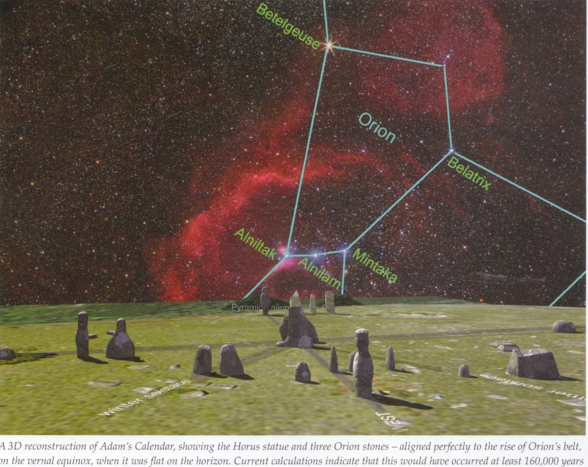 Artistic and digital impressionistic Art of the Adams Apple connected to the Orion Belt