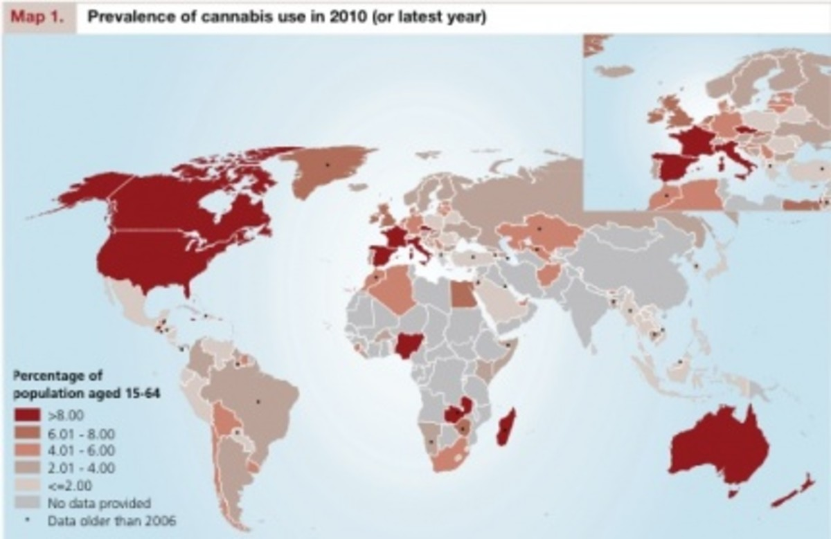 Cannabis prevalence and use from 2010 to date...