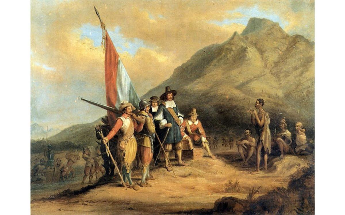 Jan Van Riebeeck and his 1652 Settler landing in the Cape