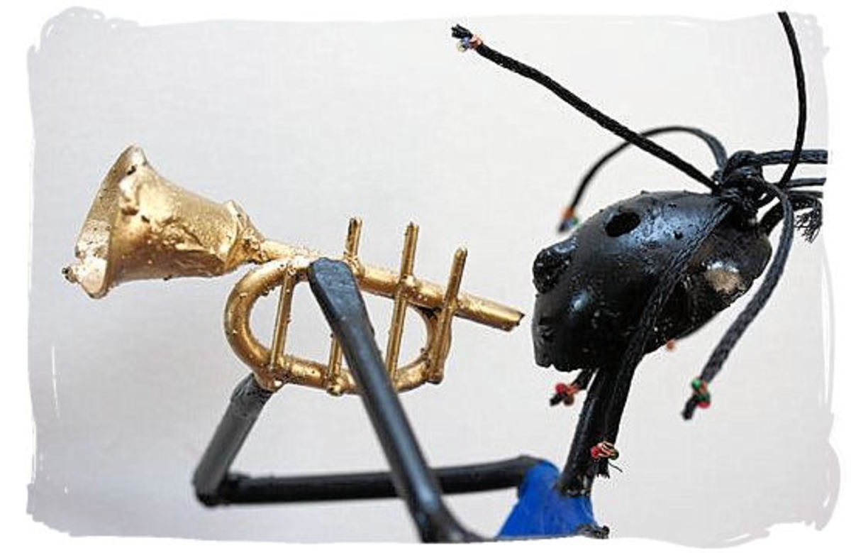 The Trumpet Player Statue - Fusion of South African Musical Cultures