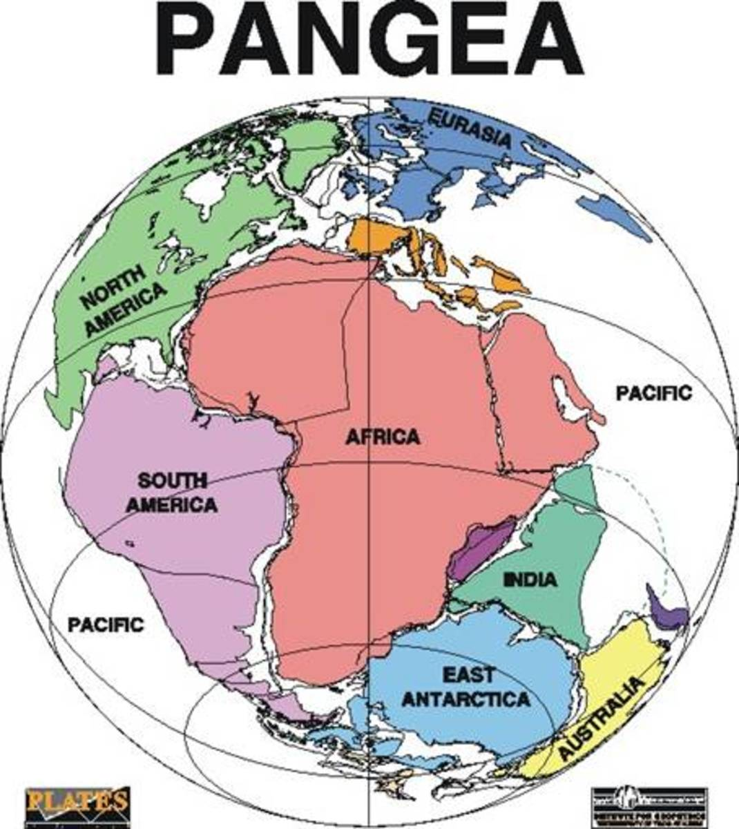 "Pangea/Gondwanaland - For hundreds of millions of years, all the land of Earth was joined together in one large mass or super continent. Scientists call it Pangaea (meaning ""all lands"" in Greek) Then about 200 million years ago the land began to drif"