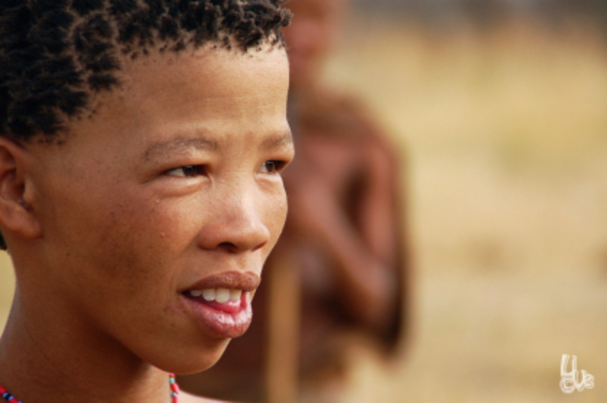 Khoisan child in South Africa...