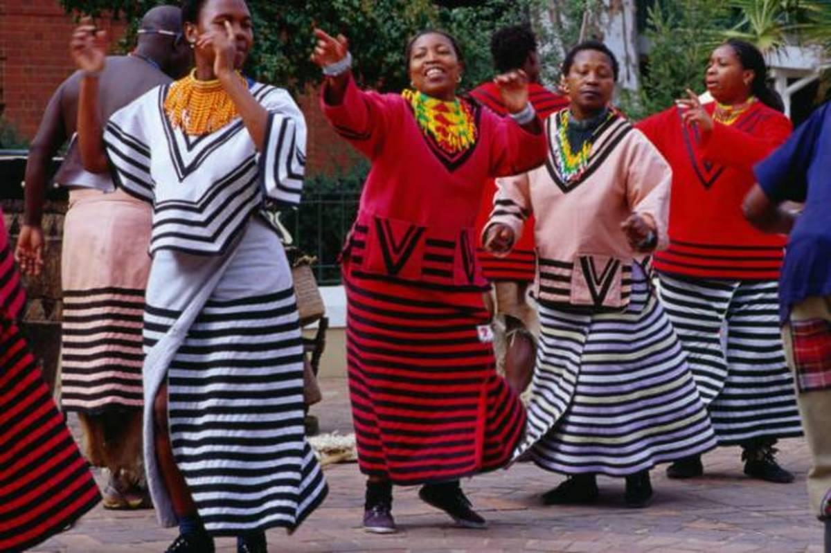 Xhosa Women Dancing At The Gold Reef