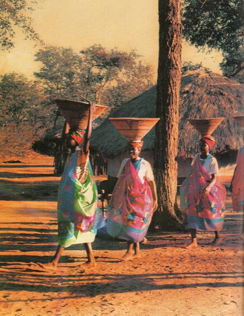 Tsonga Women in traditional Wear in Gazankulu-South africa