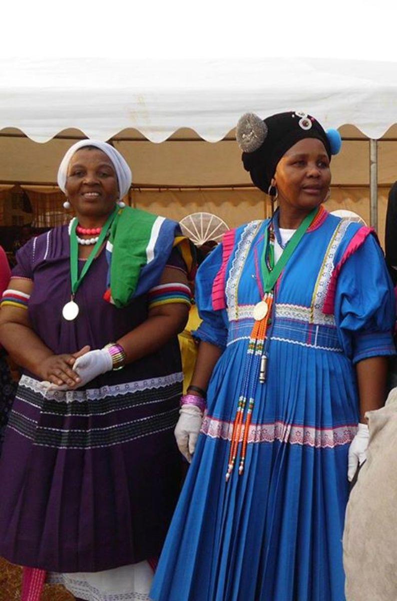 Bapedi Women in their Traditional Cultural Dress