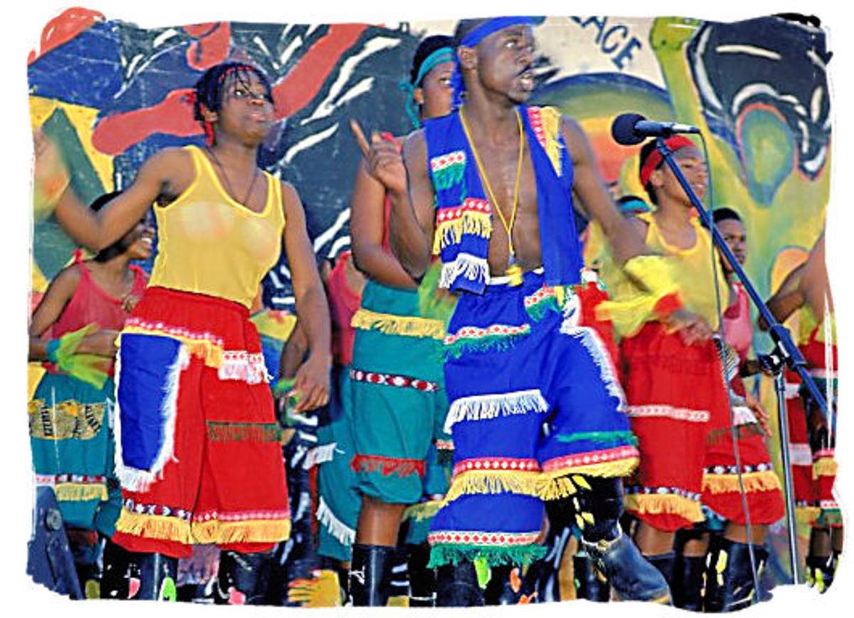 Gumboot dancers in Action