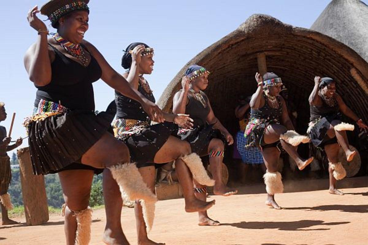 Traditional Dancing of the Zulus by Zulu Women