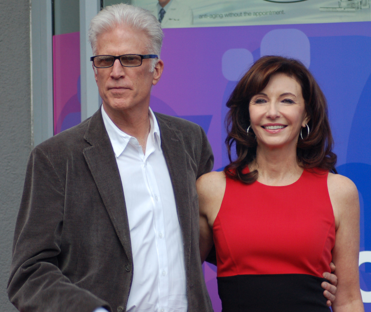 Mary Steenburgen with husband, Ted Danson. They married in 1995, after she separated Malcolm McDowell whom she had married in 1985.