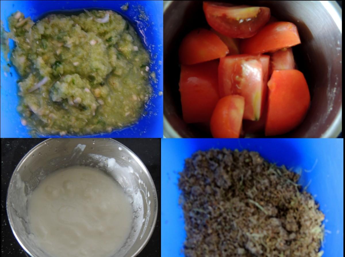 Ingredients: Ginger Garlic Greeen Chili paste.Tamato.Curd,Dry Roasted Masala