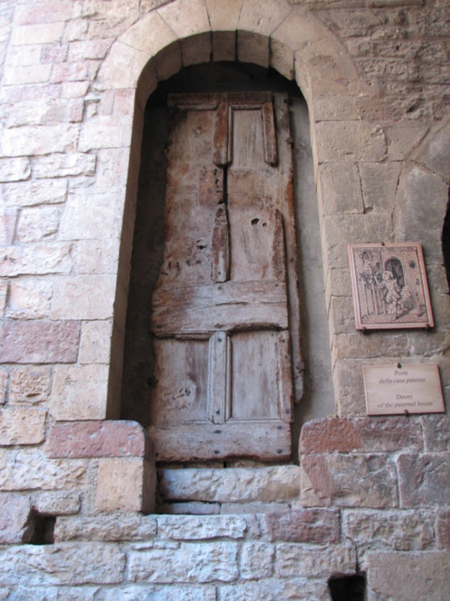 Preserved Door which once stood as part of Francis' boyhood home.