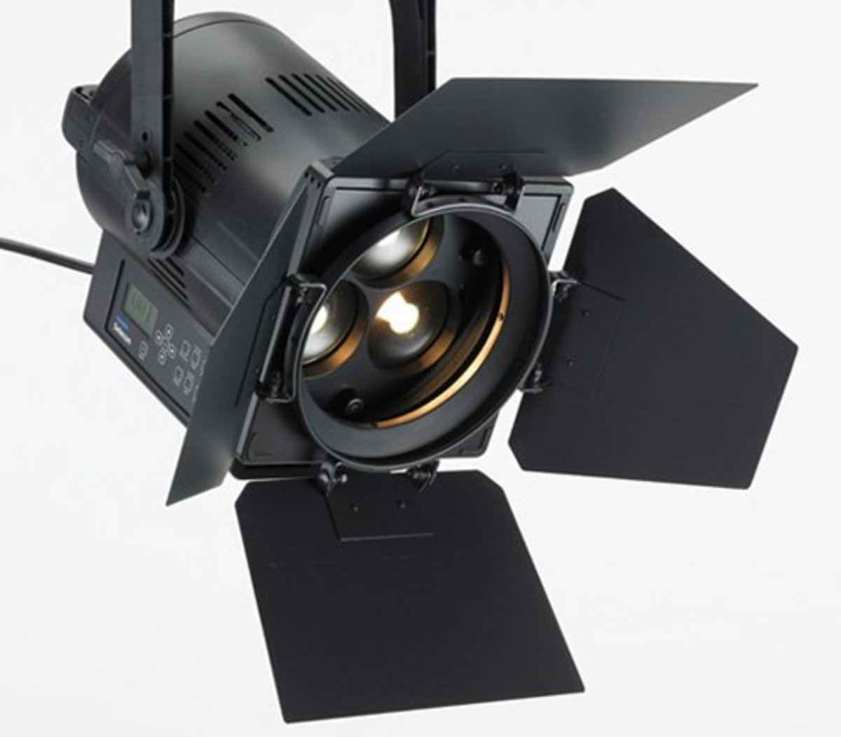 IMAGE 1: Barn Doors attached to a lighting instrument.