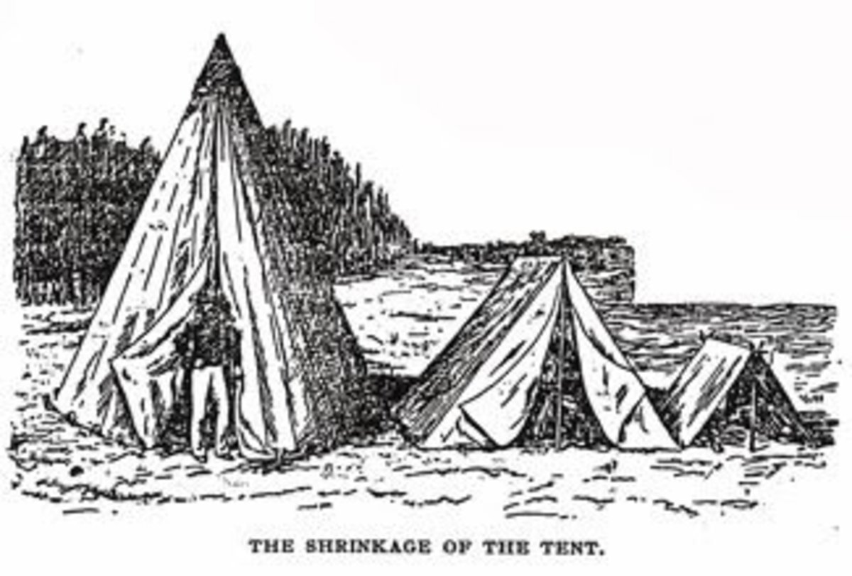 Progression - or perhaps Regression - in shelters: from the Sibley Tent, to the Wedge Tent, to the Shelter (Dog) Tent