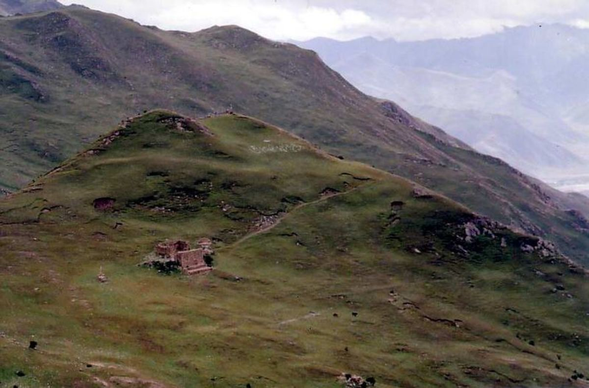This Tibet Sky Burial site in the Yerpa valley is one of the most common places for Buddhist sky burials.