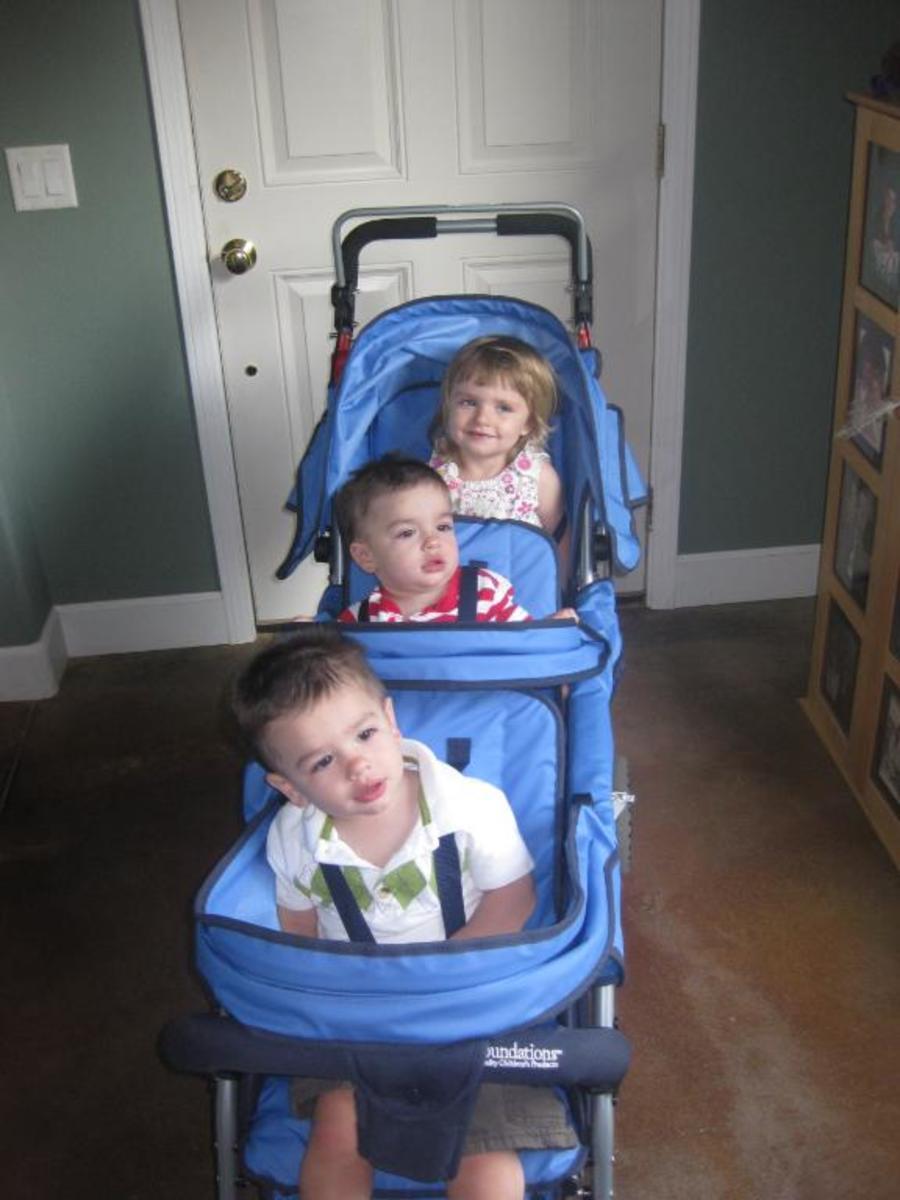 Foundations Trio Triple Tandem Stroller