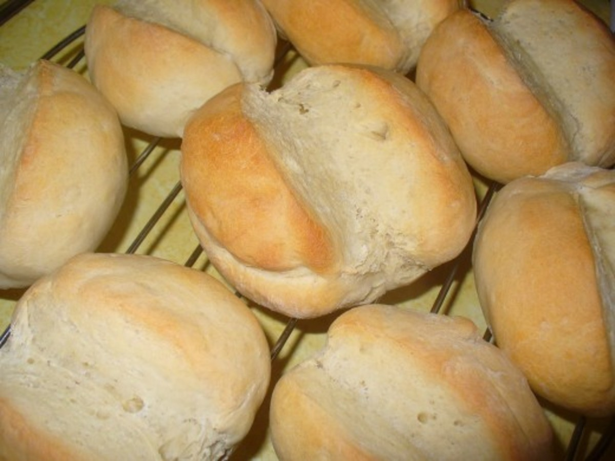 Loaves of army bread