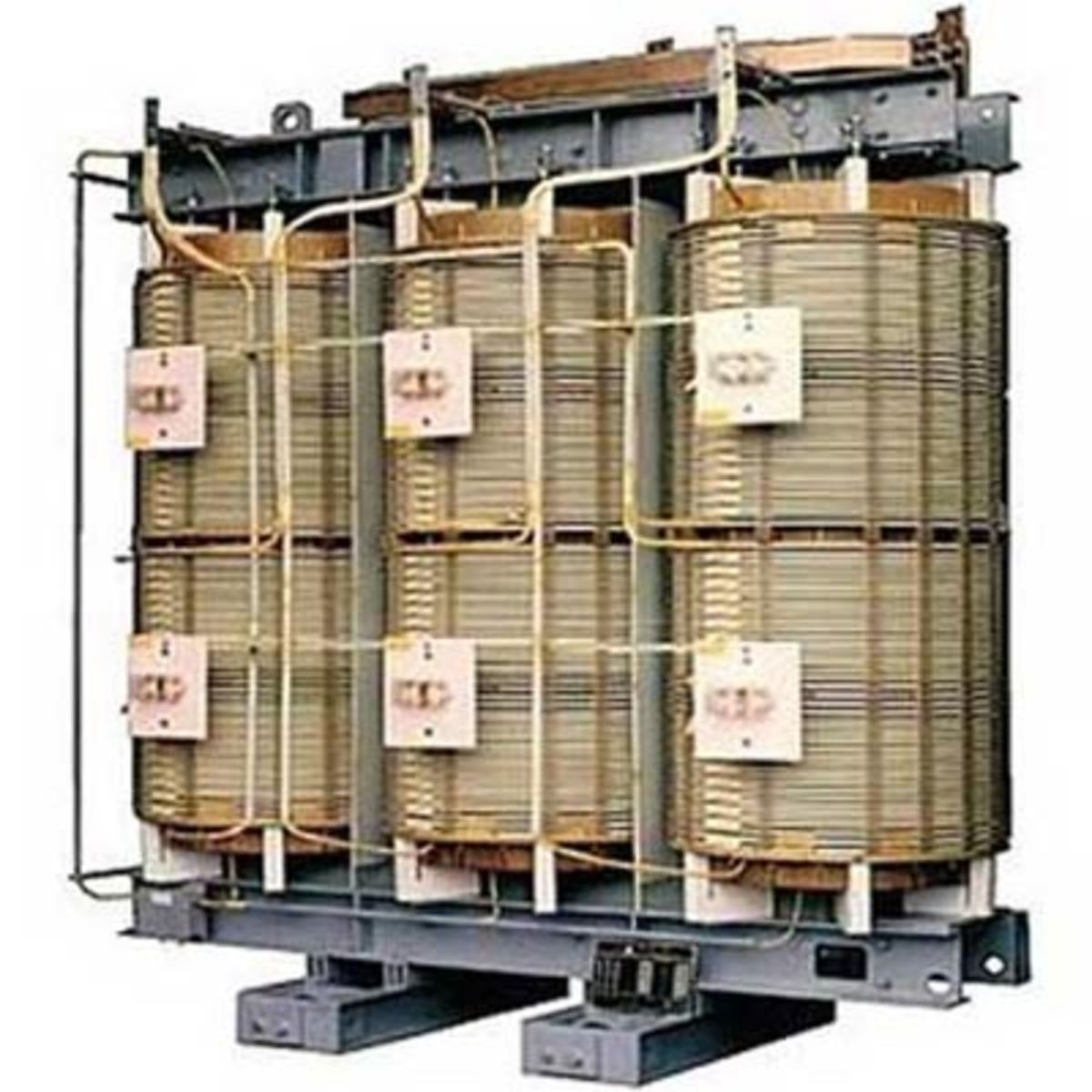 Paper insulation is used only in oil immersed transformers. In air cooled ones varnish insulated coils are used.