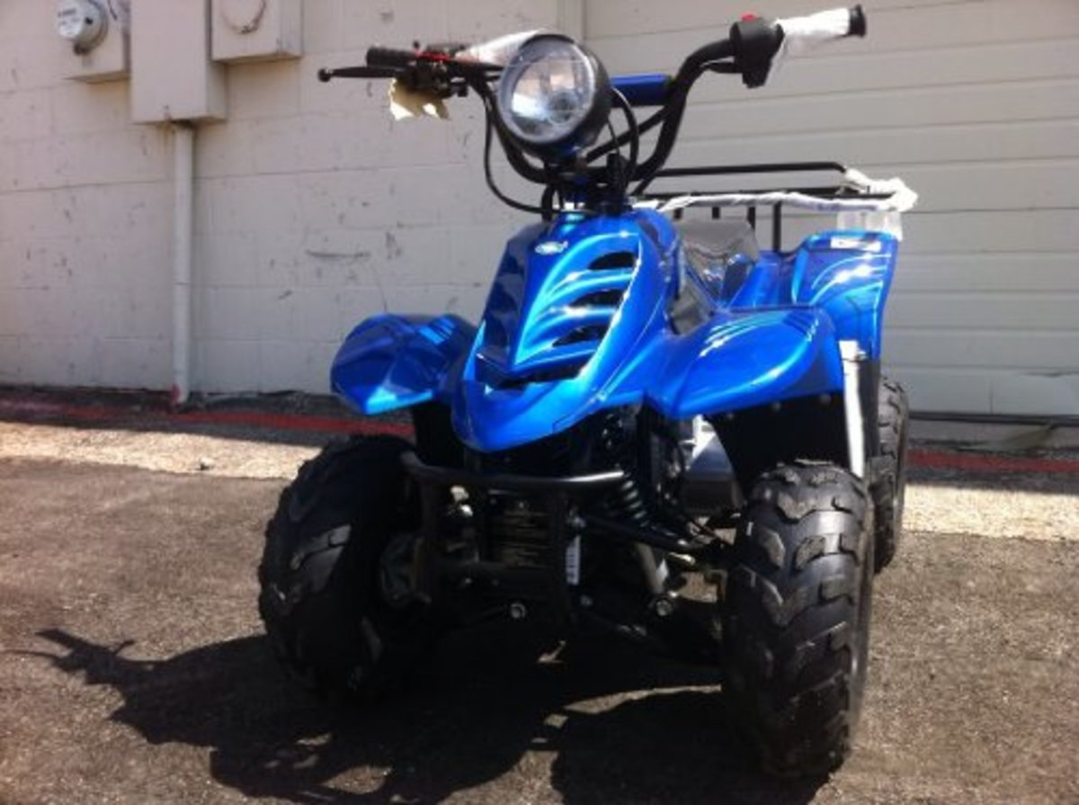 "110cc Four Wheelers 6"" Tires ATVs"