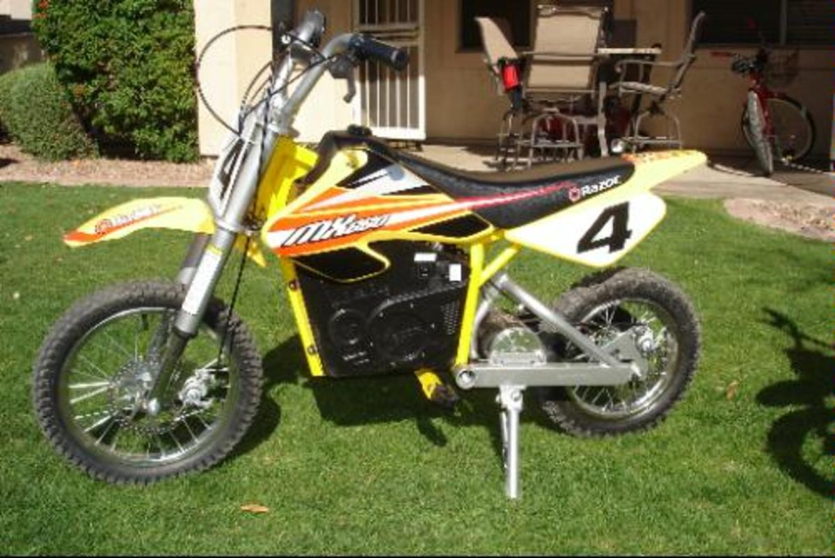 The Razor MX650 Dirt Rocket Electric Motocross Bike is a great bike for kids who want more power and have more experience.