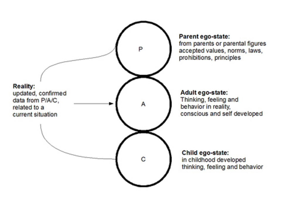 a summary of transactional analysis Transactional analysis, created by eric berne, defines three different ego states in a person which engage in transactions with another person's ego states.