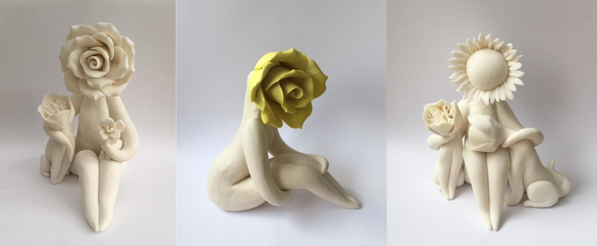 How to make a ceramic flower person