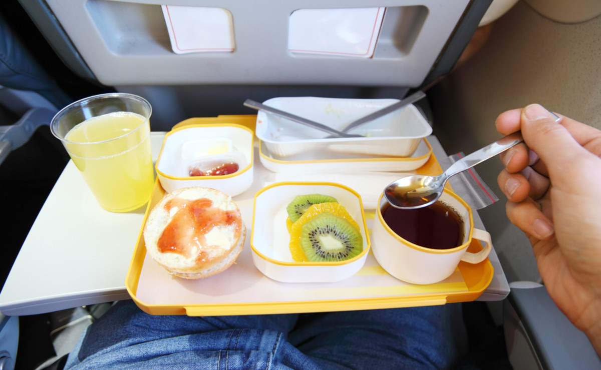 Breakfast - a sample of the airline meals served on planes
