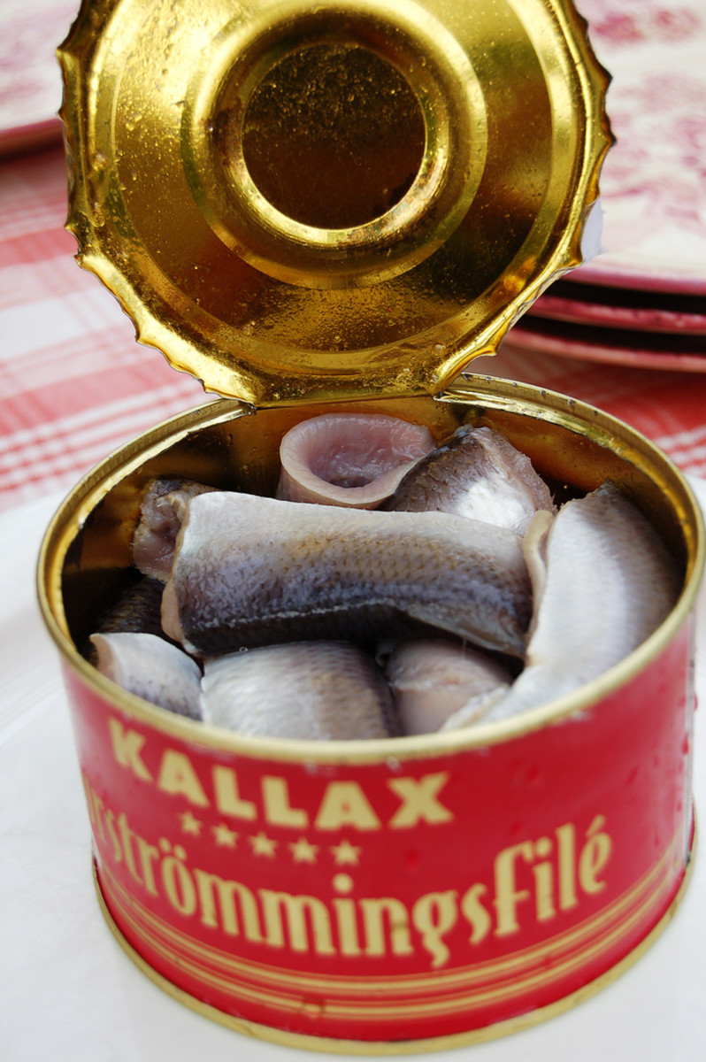 A tin of Surströmming, which is infamous for it's pungent and offensive odour.