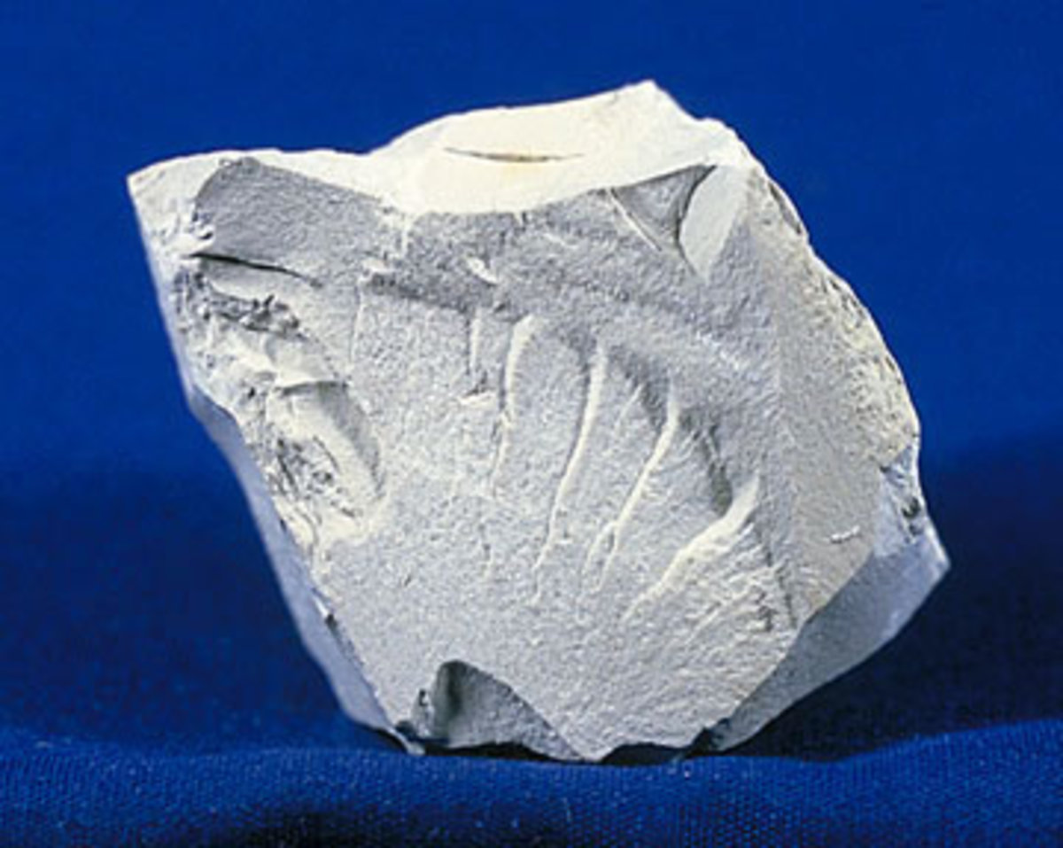 A piece of kaolin, a widely eaten type of clay.