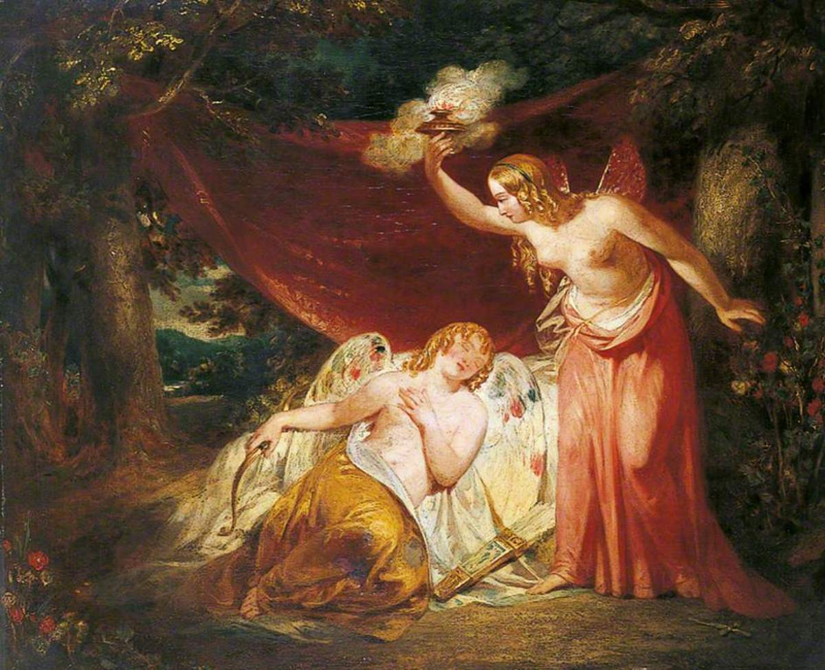 Psyche Enamoured of Cupid