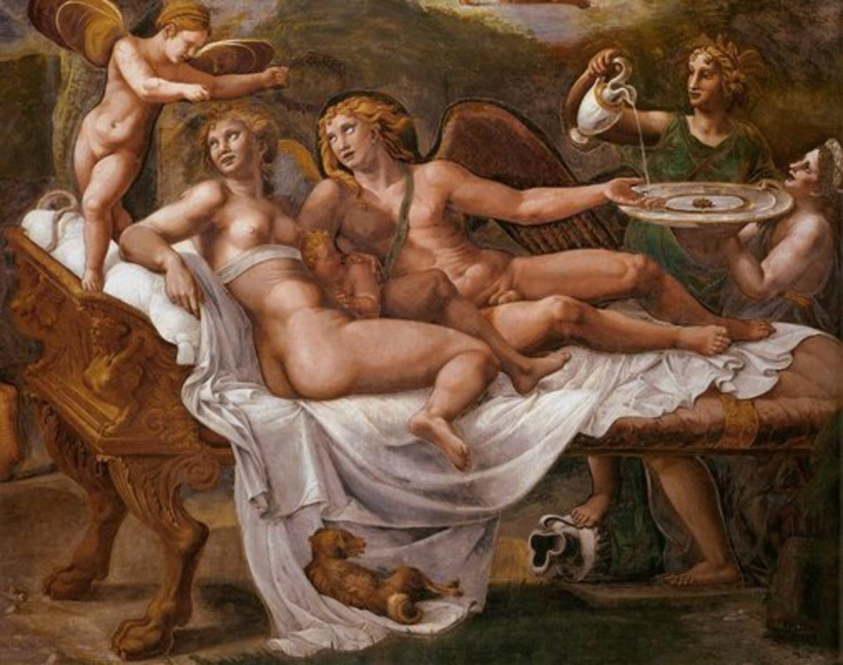 Detail of The Wedding Feast of Amor and Psyche