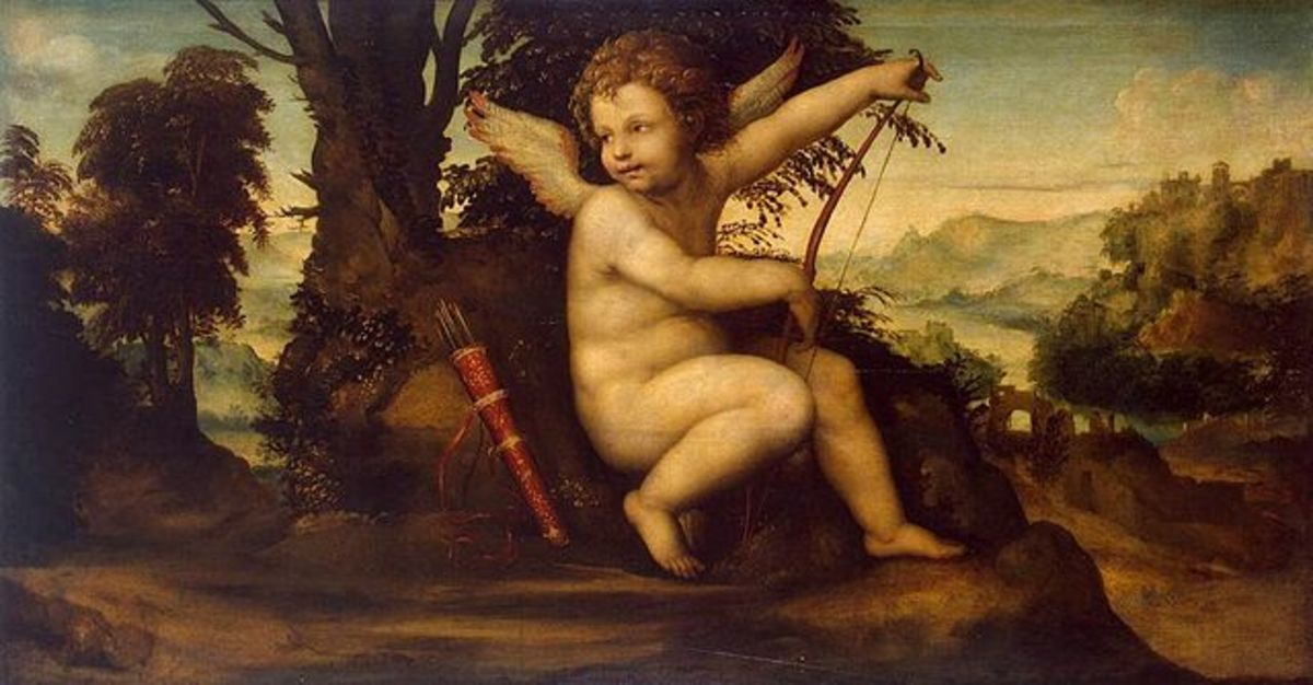 Cupid in a Landscape