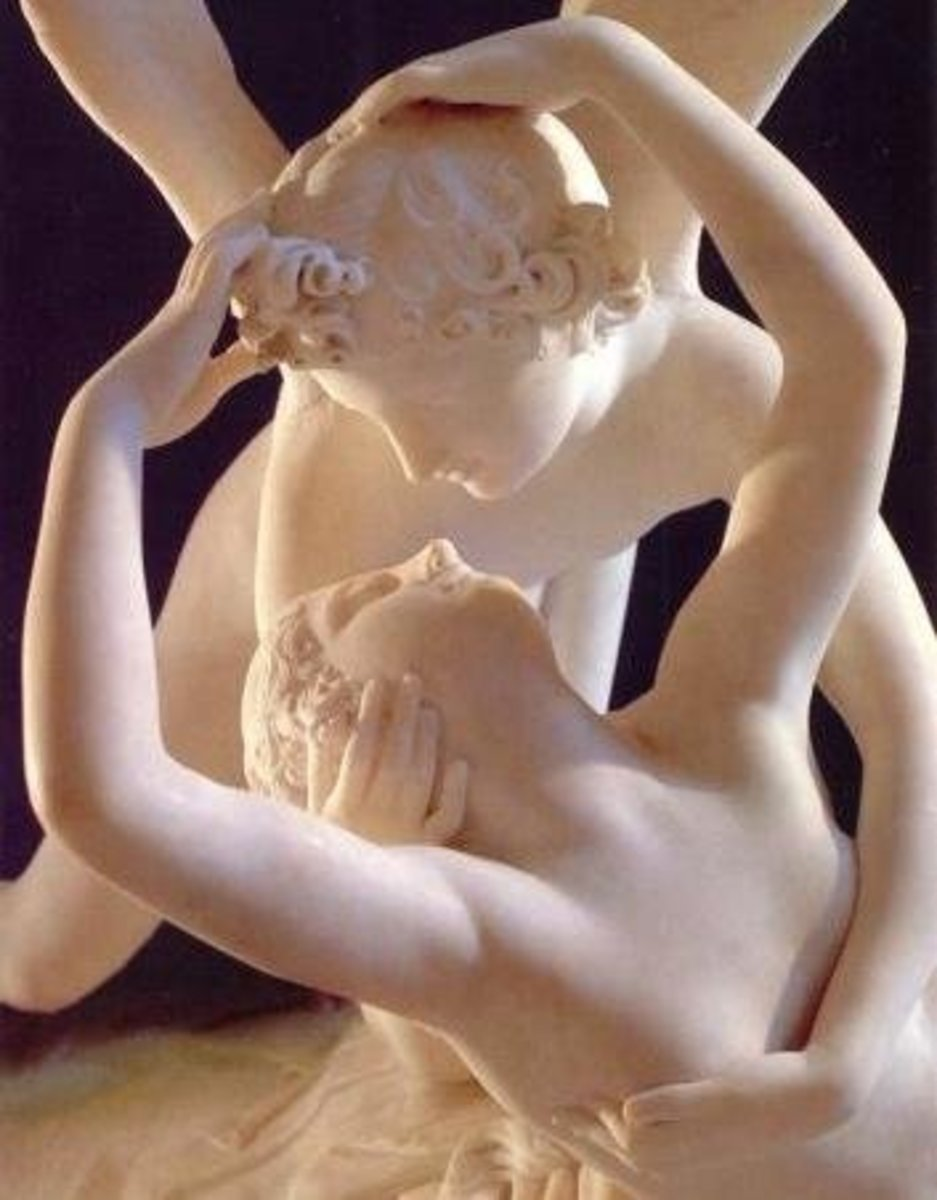 Detail of Psyche Revived by Cupid's Kiss