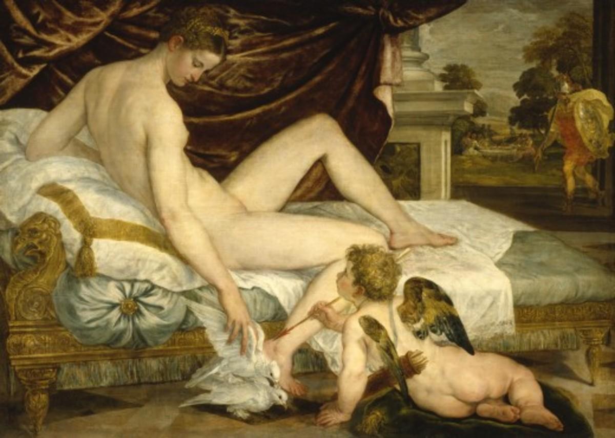 Vénus et l'Amour - Venus and Amor (Cupid)