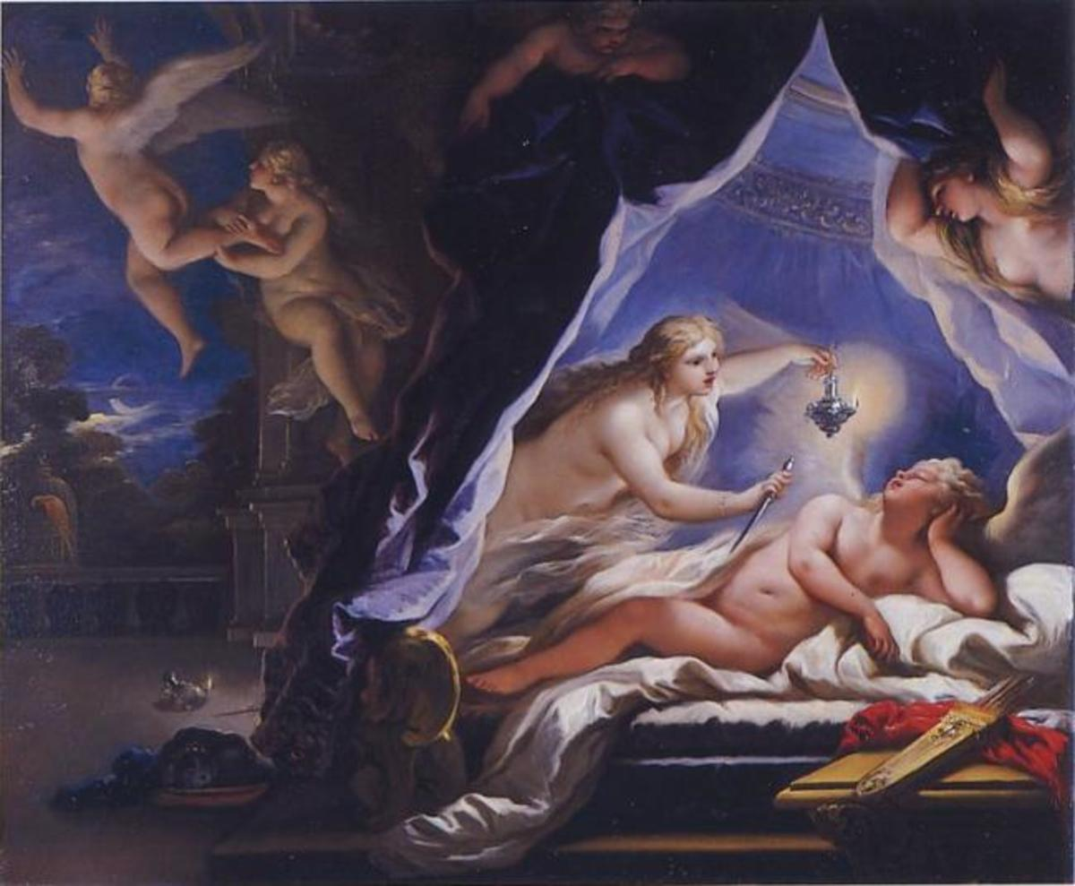 Psyche Discovering Love, 1692