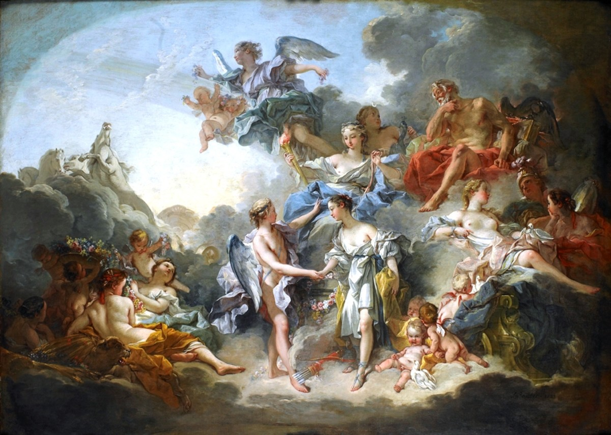 Marriage of Psyche and Amor, 1744
