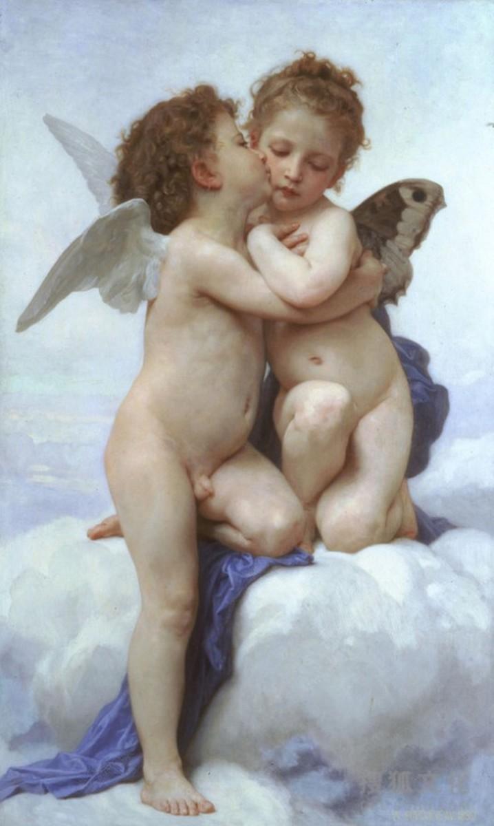 L'Amour et Psyché, Enfants (Cupid and Psyche as Children), 1890