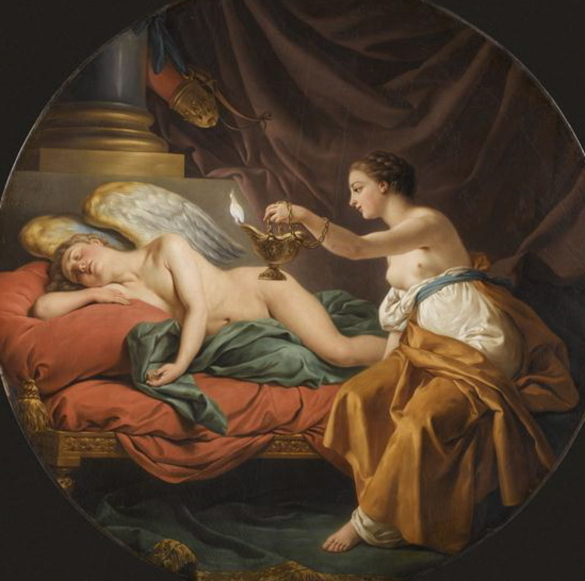 Psyche Surprises Amor Asleep, 1771