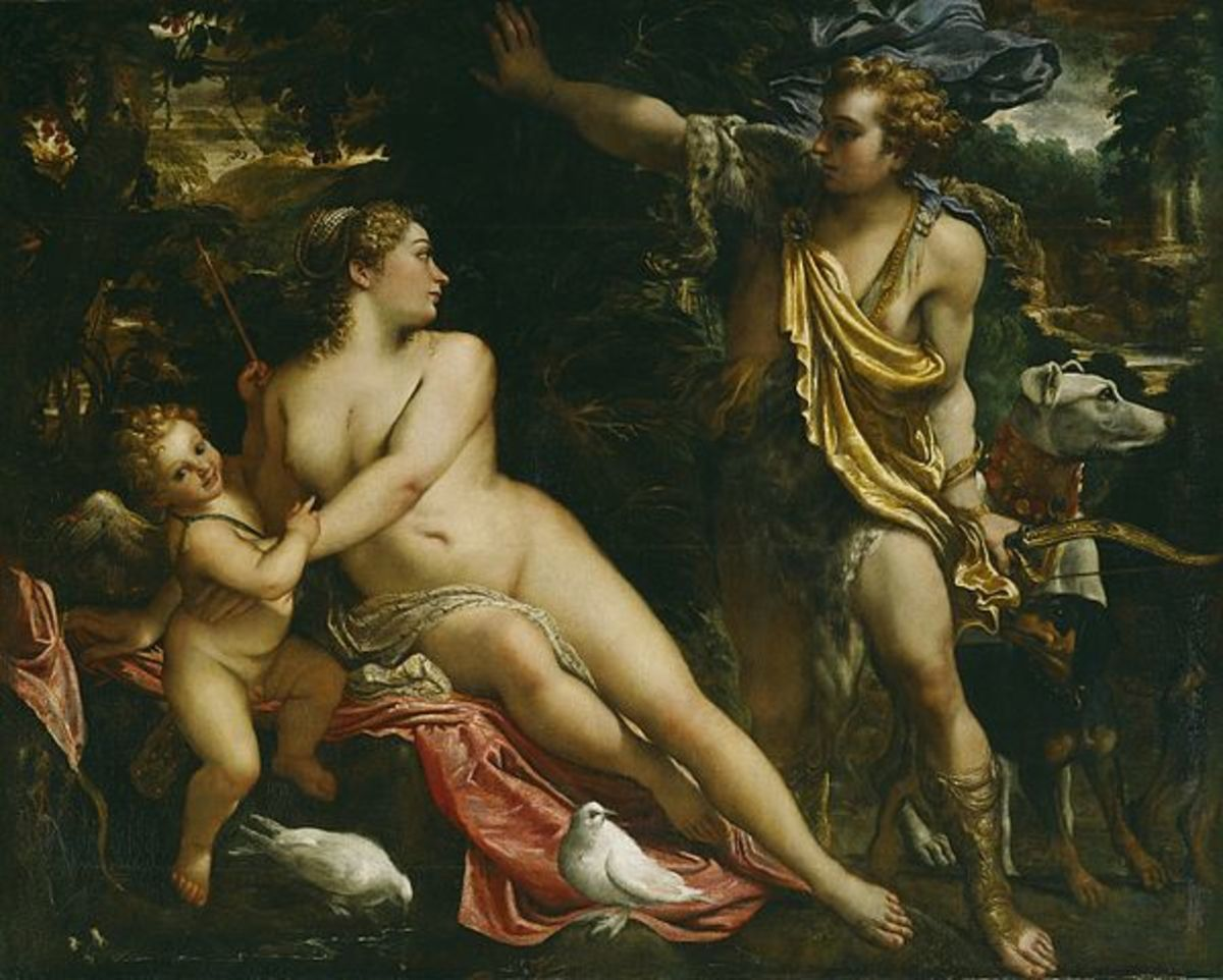Venus, Adonis and Cupid, circa 1590