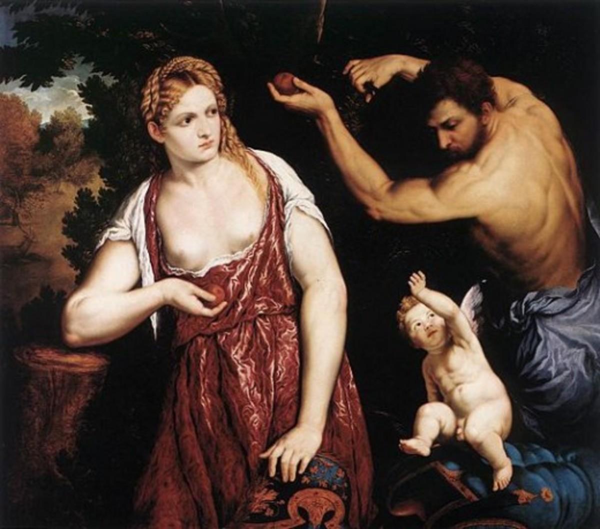Venus and Mars with Cupid, 1525
