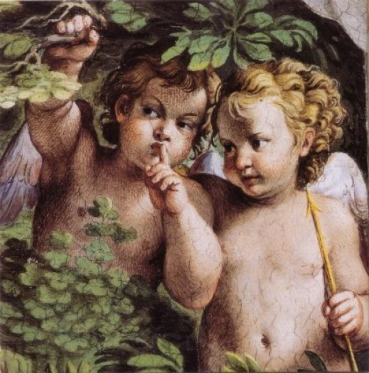 Fresco of Cupid