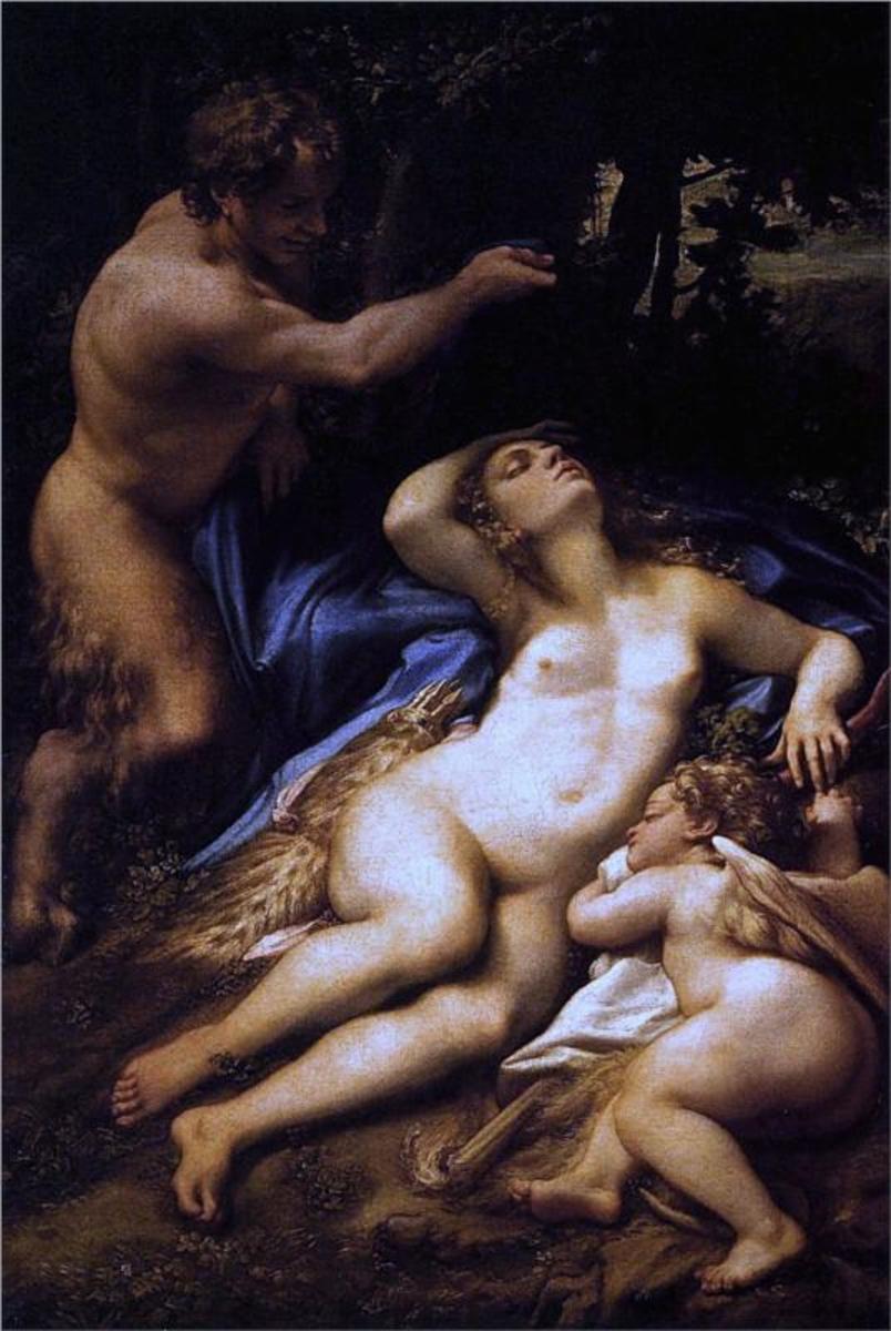 Venus, Satyr and Cupid, 1528