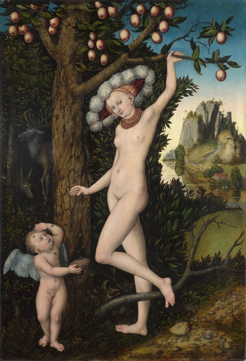 Cupid Complaining to Venus, circa 1525