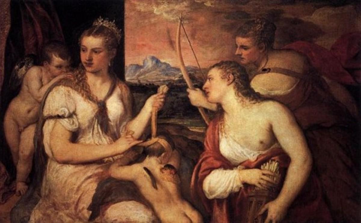 Venus Blindfolding Cupid, 1565